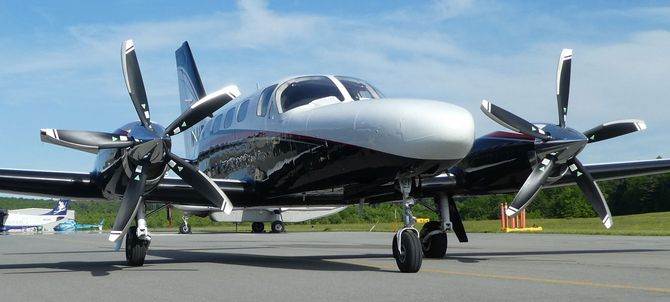 Cessna 441 with 5-blade MTV-27