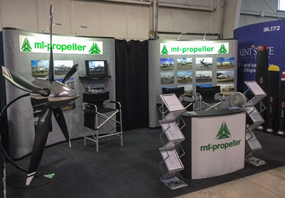 MT-Propeller booth at the AirVenture Oshkosh