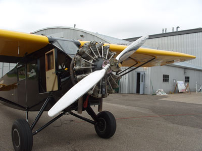 Vintage Aircraft with Ground Adjustable MT-Propeller